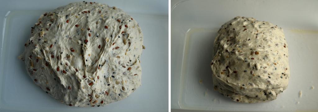 aluat cu seminte Paine cu seminte   Sourdough Seed Bread