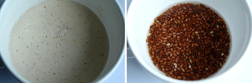 maia si soaker Paine cu seminte   Sourdough Seed Bread